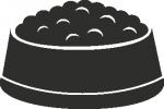etenbakje -  Naamstickers