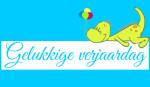 dino blauw -  Spandoeken
