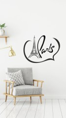 Woonkamer - Love Paris - Muurstickers