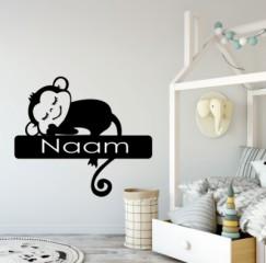Kinderkamer - aap - naam -  Naamstickers