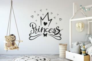 Kinderkamer - princesse hartjes - Muurstickers
