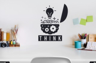 Bureau  - Hersen - think - Muurstickers