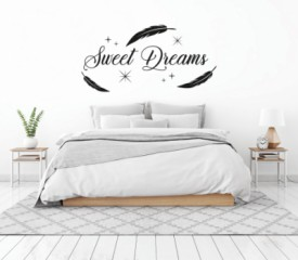 Slaapkamer - sweetdreams - Tekst stickers