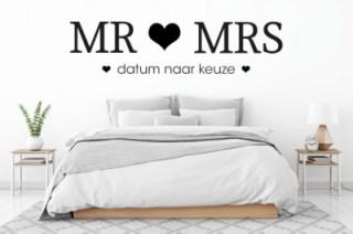 Slaapkamer - Mrs&Mrs - datum - Tekst stickers