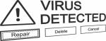 Muursticker virus - Muurstickers