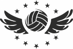 muursticker volleybal vleugel - Muurstickers