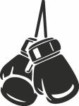 muursticker bokshandschoenen - Muurstickers