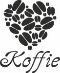 muursticker koffie bonen hartje - Muurstickers