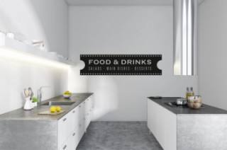 Keuken - Food-salad & dishes - Tekst stickers