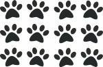 muursticker hondenpootjes - Muurstickers