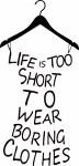 muursticker tekst in kleedje - Muurstickers