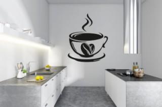 Keuken - koffie+boon - Muurstickers