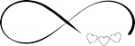 muursticker oneindig hartjes - Muurstickers