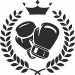 muursticker boks krans - Muurstickers