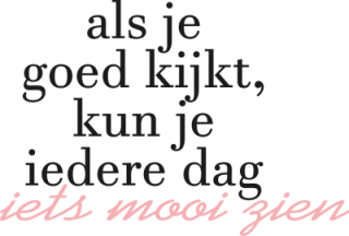 tekst - iets mooi - Tekst stickers
