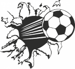 V020-voetbal - Muurstickers
