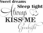 V023-sweet dreams - Tekst stickers