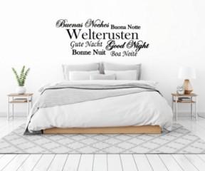 Slaapkamer - Buenas noches - Tekst stickers