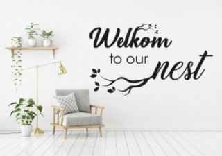 Woonkamer - Welkom - Muurstickers