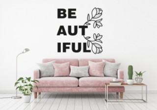 Woonkamer - Beautiful - Muurstickers