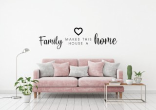 woonkamer - Familie - Home - Muurstickers