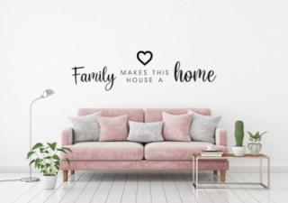 woonkamer - Familie - Home - Muurstickers